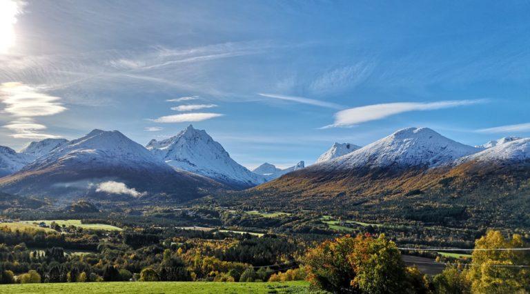 View from Romsdaleggen Lodge