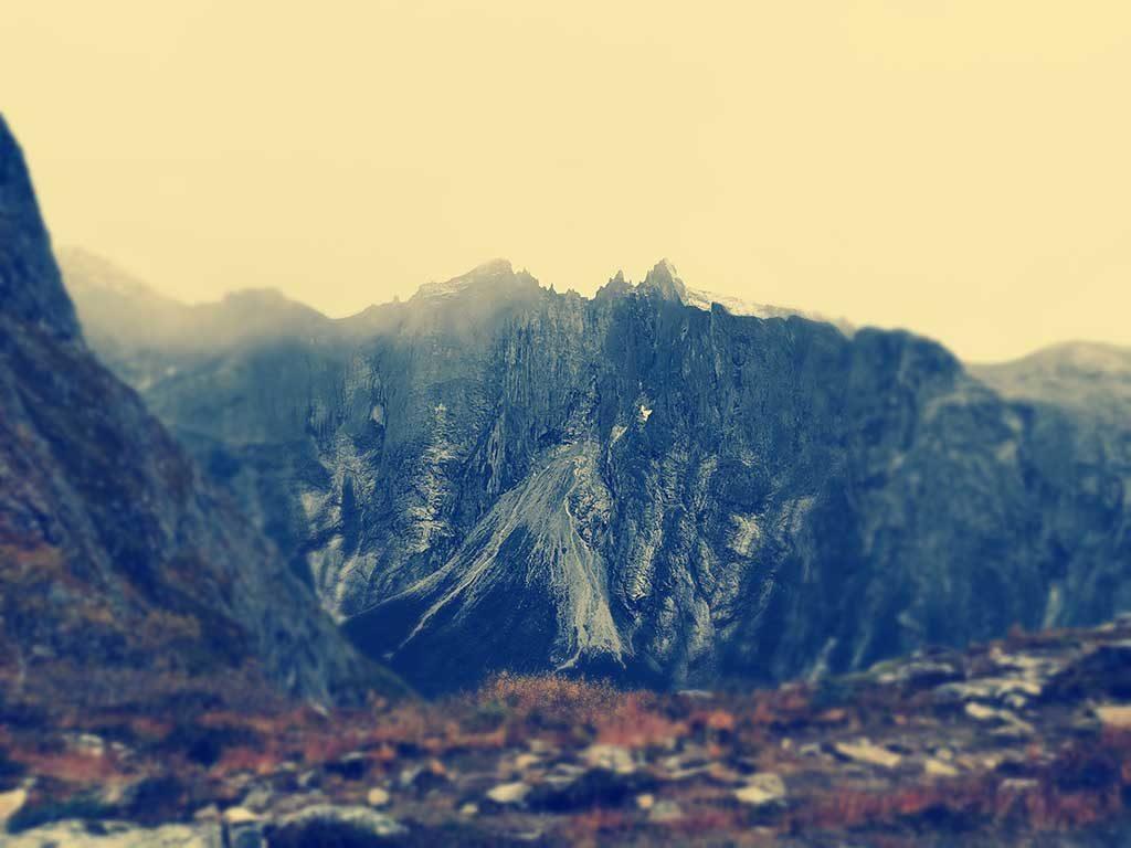 Trollveggen sett fra Litjefjellet